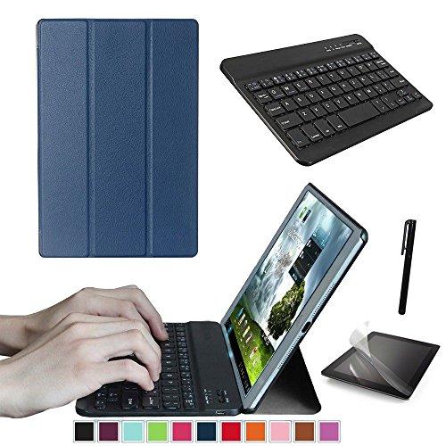 Starter Kit Replacement Suits voor Lenovo Tab M10 TB-X505F 10.1 Tablet, Smart Case, Case Met Toetsenbord, Gratis Screen Protector En Stylus Pen Inbegrepen, marineblauw
