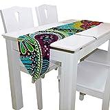 N/A Esstischläufer oder Kommode Schal, einfache Bunte Paisley-Tischläufer für Hochzeit, Party, Bankett, Dekoration, 33 x 228 cm
