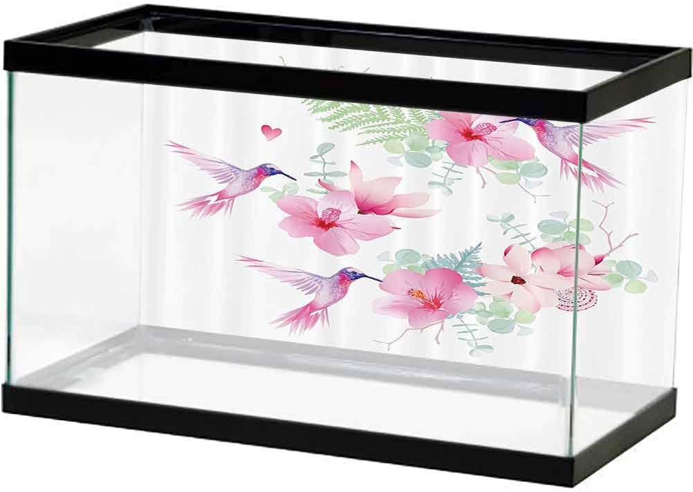 Floral Reservation Decor Low price Fish Tank Trees Blossoms Spring of Flowers Buds Sea