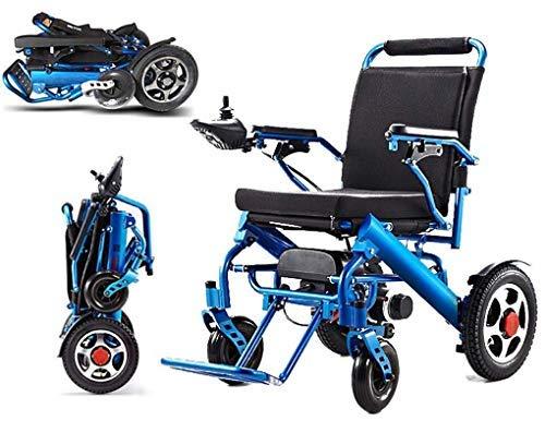 HAOT Elektrischer Rollstuhl Faltbarer älterer behinderter Hilfswagen älterer älterer intelligenter kompakter automatischer tragbarer Leichter Roller Kostenlose Installation, 23 kg, automatischer