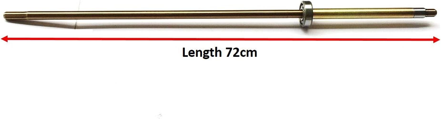 YAMASCO 3B2-64302-0 3B2643071M Arbre d'entraîneHommest (L) pour Tohatsu Nissan Hors-Bord 8HP 9.8 HP 2 4