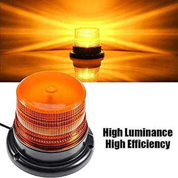 LED Strobe Light Big Ant Amber 48 LED Warning Lights Safety Flashing Strobe Lights with Magnetic for Most Vehicle Trucks Cars Law Enforcement Emergency Hazard Beacon Caution Warning Snow Plow