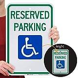 SmartSign - T1-1001-EG_12x18 Reserved Parking Federal Handicap Parking Sign By | 12' x 18' 3M Engineer Grade Reflective Aluminum