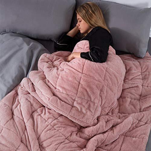 Brentfords Couverture lestée en Peluche pour Enfants, pour thérapie du Sommeil, soulagement de l'anxiété, Couverture Super Douce, Rose Blush, 125 x 150 cm, 4 kg