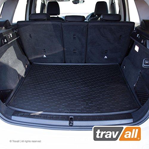 Travall Liner Tappetini per Bagagliaio Compatibili con BMW 2 Serie Active Tourer (2014-Corrente) TBM1128 - Vasca Baule in Gomma Originale