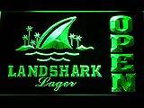 Landshark Lager Beer OPEN Bar LED Neon Light Sign Man Cave 082-G