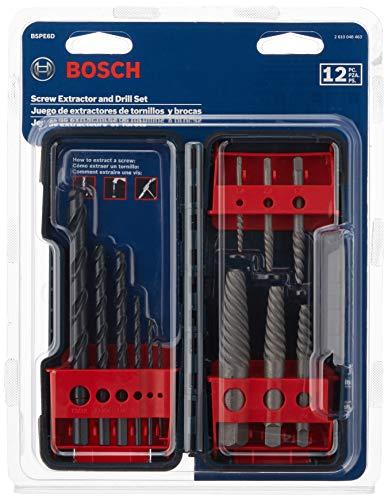 BOSCH BSPE6D 12Piece Steel Spiral Flute Screw Extractor Set