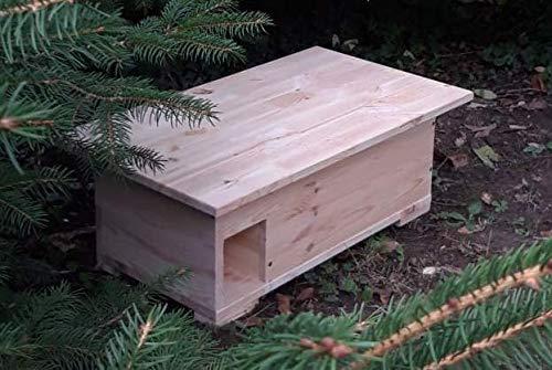 Kees Holzprodukte Igelhaus Igelhütte mit Labyrintheingang nach Nabuempfehlungen