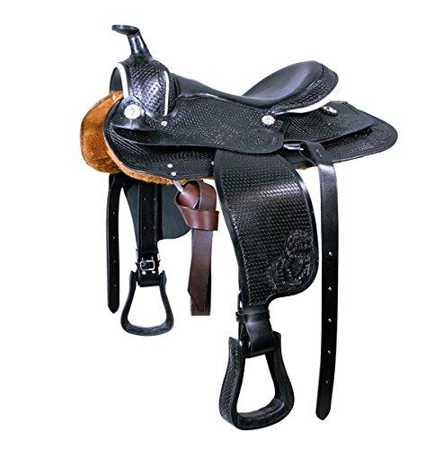 Westernsattel, hellbraun Pony