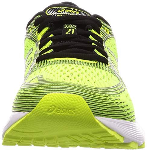 Asics Gel-Nimbus 21, Zapatillas de Running Hombre, Amarillo (Safety Yellow/Black 750), 44.5 EU