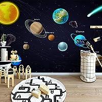 3D壁画漫画スペース宇宙惑星ポスター壁画子供部屋寝室背景写真壁紙子供部屋-300x210cm