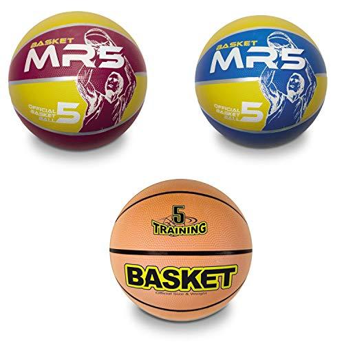 Mondo Toys 13139 Dream Team Ballon de Basketball pour Enfant Surface Souple Taille 5 Orange Jaune Bleu Amoureux