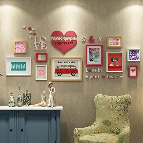 William 337 Décoration murale créative pour chambre à coucher avec cadre mural en forme de cœur