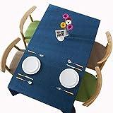 MCZ Rechteckige Tischdecke Fleckensichere wasserdichte waschbare Tischdecke Wischbare Tischdecke für Esstischbezüge Partytischdecken (blau, 120x120cm)