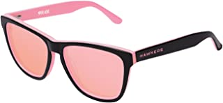 Hawkers Men's X STEVE AOKI NEON HNX02 Rectangular Sunglasses, Pink, 12 mm