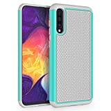 SYONER Shockproof Protective Phone Case Cover for Samsung Galaxy A50 (6.4', 2019) [Turquoise/Gray]