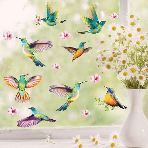 Wandtattoo Loft Fensterbild Frühling Ostern selbstklebend Vogel Kolibris Wiederverwendbar Vögel / 1. DIN A4