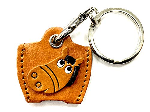 Schlüsselanhänger aus Leder, Motiv: Pferd, Vanca, Handwerk, Sammlerstück, hergestellt in Japan