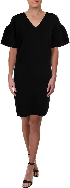 Lauren Ralph Lauren Womens Pranang Bell Sleeves KneeLength TShirt Dress