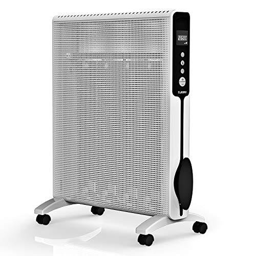 TURBRO Arcade HR1020 Wärmewelle Heizgerät 2000 Watt mit Thermostat, Timer und Fernbedienung, Räume bis 60 m³, GS zertifiziert, 220-240V, Weiß