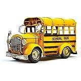 NAMFZX Retro Druckguss Auto Oldtimer Modell Alte Simulation Bus Schulbus Antikes Auto Kreative...