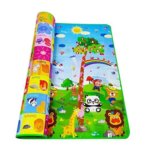 CRITEX MART Double Sided Water Proof Baby Mat Carpet Baby Crawl Play Mat Kids Infant Crawling Play Mat Carpet Baby Gym Water Resistant Baby Play & Crawl Mat Playmat for Babies (6 Feet X 4 Feet)