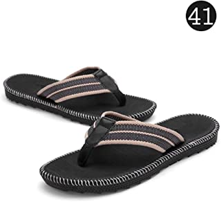Honorall Men's Sandals Flip-Flop Slipper Shoes Anti-Slip EVA Flip Flops Flat Shoes with Comfortable Footbed for Outdoor Indoor Home Beach Sea