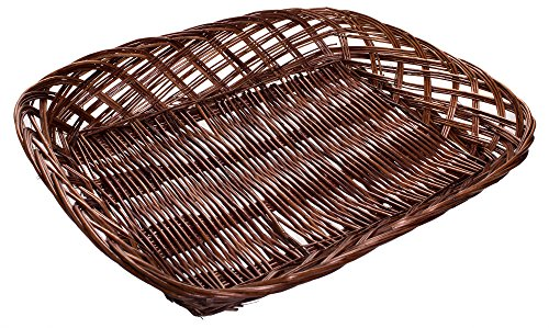 Willow Storage File Tray in Brown Finish - 15 x 12 x 2.5 Inches