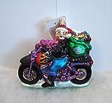 Christopher Radko Christmas Ornaments Special Delivery, Mrs Santa Claus Rides Harley Davidson Motorcycle, 1999, 99-HAR-02, MWT MIB