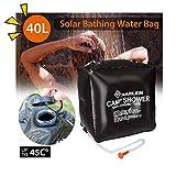SOWLFE Bolsa de Ducha Solar para Acampar (40L / 10.56 galones) - Bolsa de Ducha de Viaje con calefacción Solar portátil | Agua Caliente con 45 ° C | Manguera extraíble Encendido/Apagado Cabezal
