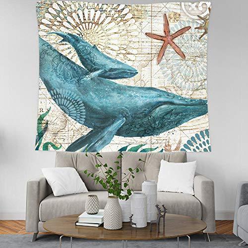 Ins tapiz de océano nórdico para colgar en la pared, tapices decorativos de arte bohemio, fundas de playa, breve Yoga, 150X100CM