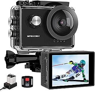 【最新版4K/60fps】Apexcam X60 Pro アクションカメラ 4K/60fps 20MP高画質 2インチ液晶画面 170度広角レンズ USB外部マイク対応 リモコン付き 防水ケース付き 歪み補正 手振れ補正 Wi-Fi搭載 40M...