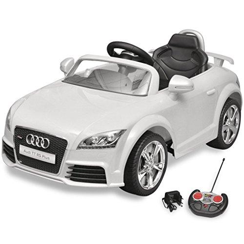 vidaXL Kinder Elektroauto mit Fernbedienung Weiß Kinderfahrzeug Kinderauto