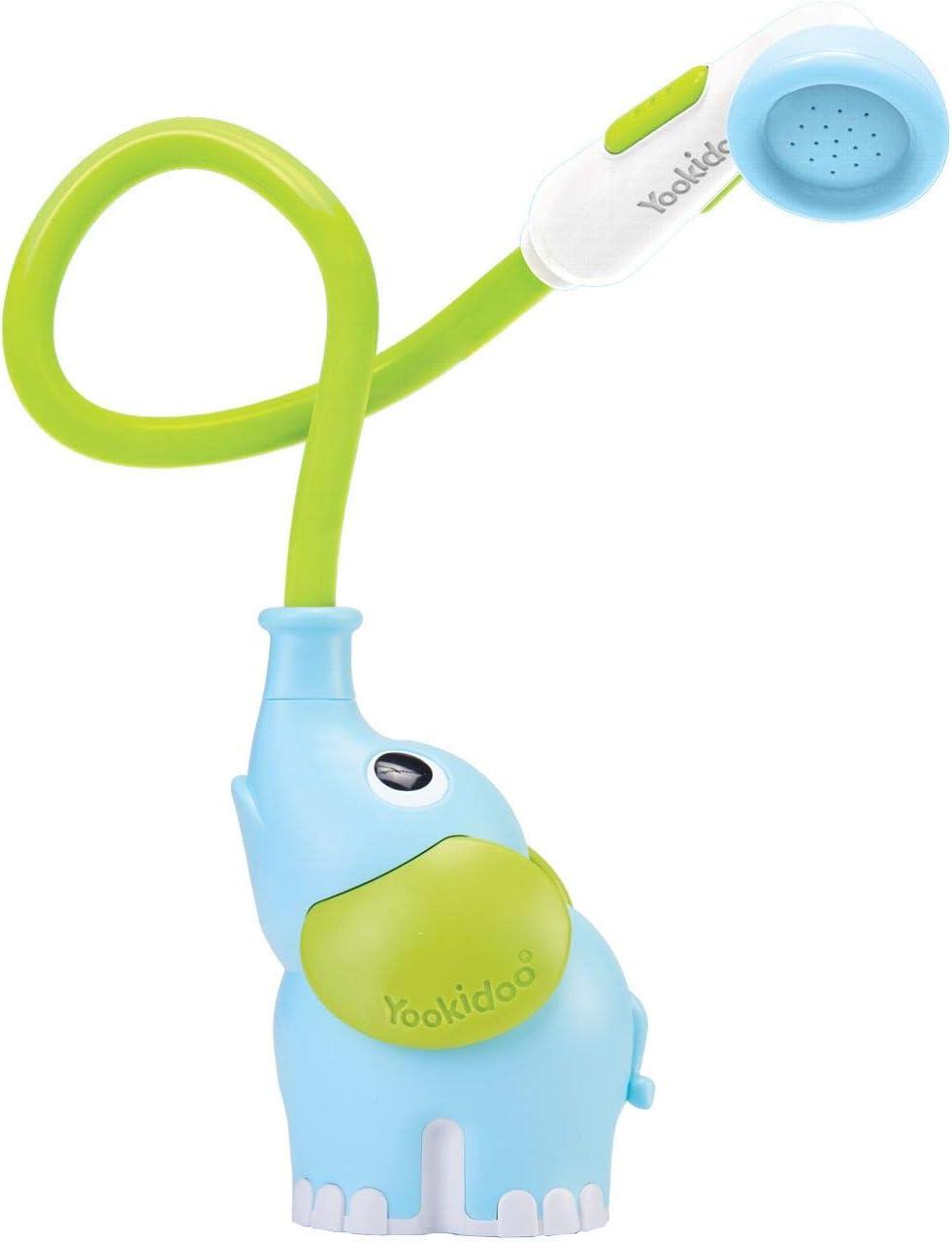 Yookidoo - Ducha bañera elefante azul, juguete bañera, juguete baño y ducha para bebé y niño