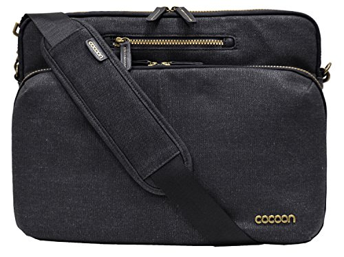 """Cocoon MMS2504BK Urban Adventure 13"""" Messenger Sling with Built-in Grid-IT! Accessory Organizer (Black)"""