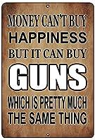 l面白いプロ銃金属錫マーク壁装飾バーお金幸福銃