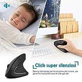 Zoom IMG-2 loetad mouse verticale ergonomico wireless