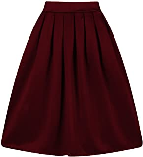 7ecbc8cd4c Taydey A-Line Pleated Vintage Skirts for Women