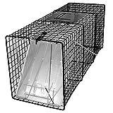 踏み板式捕獲器・改良型 大・ブラック(完成品) 【サイズ(約)81×26×32cm】