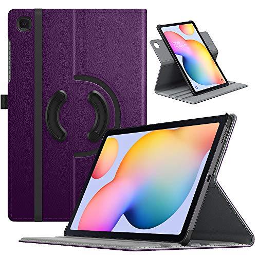 TiMOVO Custodia Protettiva Compatibile con Samsung Galaxy Tab S6 Lite 10.4 inch 2020 (SM-P610/P615), Cover a Rotazione 90 Gradi per Tablet, Case a Tre Sezioni, con Auto Sveglia e Sonno - Viola