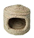 WOWOWMEOW Handmade Small Animal Natural Woven Grass Hammock Cave Bed for Guinea-Pigs, Rabbits, Hamsters,...