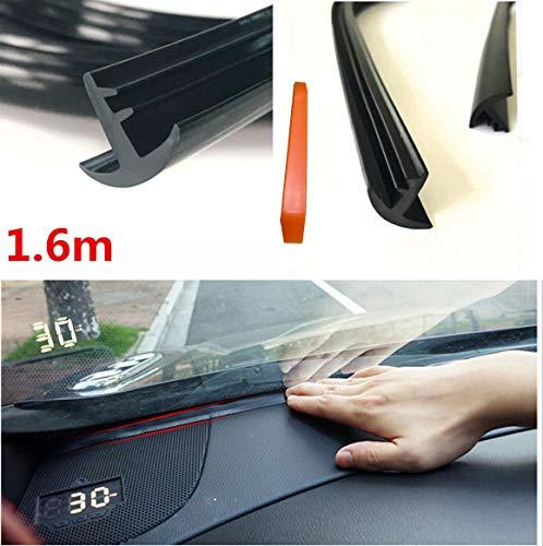 Tira de sellado de goma para el salpicadero, parabrisas, del coche, aislante acústico, resistente al polvo, 1,6 m