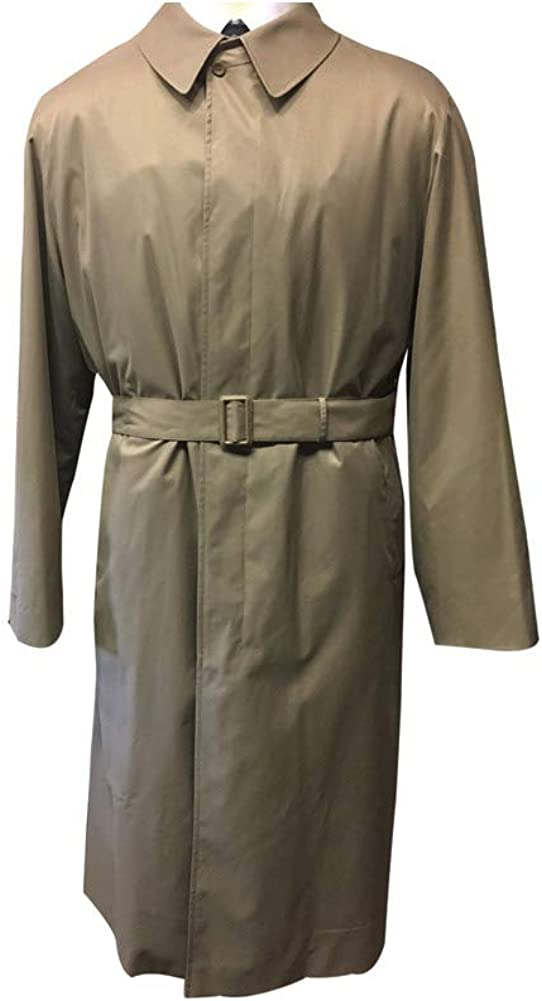 Gianfranco Ruffini Extra Long Rain Trench Coat Big and Tall Tan