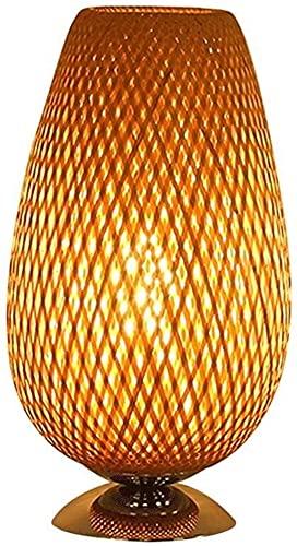 Lampada Da Tavolo In Tessuto Bamboo, Base In Metallo, Sistemi Di Illuminazione Ristorante, Decorazioni Per La Casa Da Camera Da Letto Soggiorno