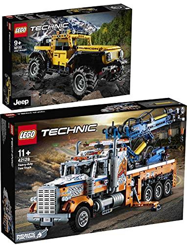 BRICKCOMPLETE Lego 2er Set: 42128 Schwerlast-Abschleppwagen & 42122 Jeep® Wrangler