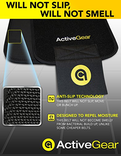 ActiveGear Premium Waist Trimmer Belt Slim Body Sweat Wrap for Stomach and Back...