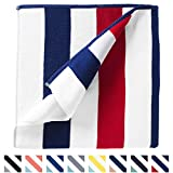 Oversize Plush Cabana Towel by Laguna Beach Textile Co | Red, White and Blue | 1 Classic, Beach and Pool House Towel