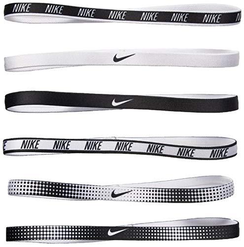 Nike Women's Printed Headbands Assorted 6PK White/Black Size One Size