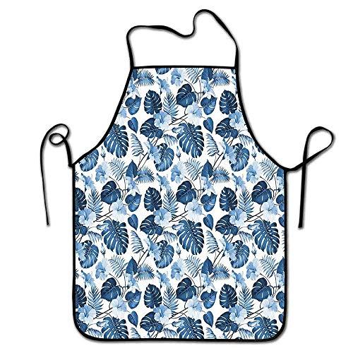 Not Applicable Tablier d'Hawaï pour Les Enfants Branche d'arecaceae Symbole polynésien de Triomphe et de Victoire Tablier de Printemps Café Bleu Cobalt Bleu bébé