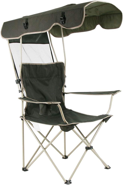 SHONGSHONG Beweglicher Freizeit-Stuhl Faltender Sonnenschutz-Stuhl Im Freien Oxford-Stoff-Justierbare Markise Einfach Zur Lagerung Und Zum Transport-Fischen-Strand-Stuhl
